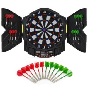 Best Choice Products Electronic Dartboard Sport Game Set