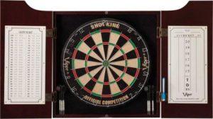 Viper Hudson Sisal-Bristle Steel Tip Dartboard and Cabinet Bundle