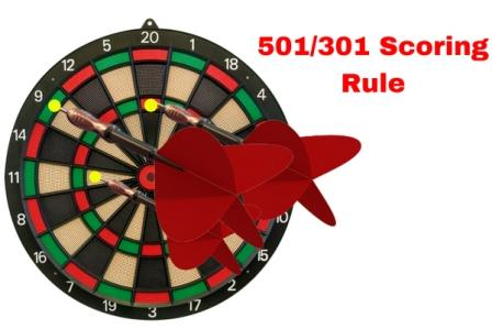 301 and 501 darts scoring