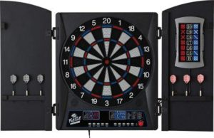 Fat Cat Mercury Electronic Soft Tip Dartboard with Cabinet