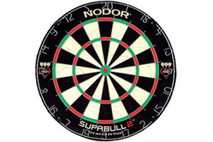 Nodor SupaBull2 Bristle Dartboard Equipped with Easy-Turn Steel Numbers for Beginning or Recreational Players