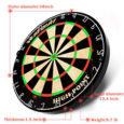 WIN.MAX Blade 18 Bristle Dartboard Steel Tip Dart Board with Flights